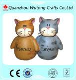 Figurines svegli del gatto della decorazione dell'interno Handmade moderna della resina
