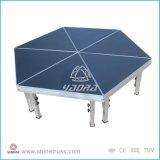 Estágios ajustáveis da plataforma de alumínio do estágio