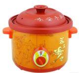 Pot de soupe à l'argile pourpre et haute qualité
