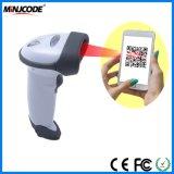 2D lecteur tenu dans la main Scan1d/2D/de scanner de code barres de CCD, facile pour le paiement mobile, lecteur de code à barres de câble, lecteur de code barres, Mj2818
