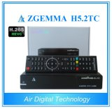 Récepteur de satellite/câble du système d'exploitation linux E2 de Zgemma H5.2tc de doubles tuners du professionnel Hevc/H. 265 DVB-S2+2xdvb-T2/C pour les glissières mondiales