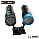 Hoozhu V30 잠수 장비 최대 2600lm는 & 잠수 영상을%s 120m LED 토치를 방수 처리한다
