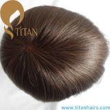 Toupee basso del sistema dei capelli di colore del Brown mono per gli uomini