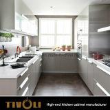 Migliore disegno dell'armadio da cucina con il laminato impiallacciato e l'illuminazione Tivo-0195h