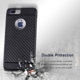 Резиновый iPhone 7 аргументы за волокна углерода силикона добавочное
