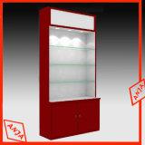 Contador de cosméticos de madera estante pantalla cosmética