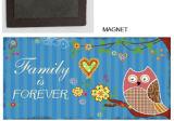 Magnete resinoso sveglio del frigorifero del gufo per la decorazione domestica