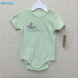 Plain Green Baby Clothing 0-Neck Baby Onesie