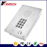 Teléfono de emergencia Knzd-06 Kntech Intercomunicador de elevación de acero inoxidable Rust Proof teléfono