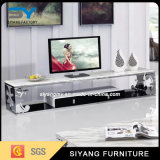居間の家具の白い大理石TVのキャビネットTV表