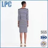 Frauen-Sommer Striped Baumwollkleid