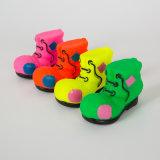 다채로운 단화 모양 개 비닐 장난감 애완 동물 삐걱거리는 장난감