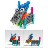 14885504-4 in 1 Dier veranderde Blokken van het Stuk speelgoed DIY van de Uitrusting van het Blok de Onderwijs Creatieve Geplaatst 38PCS (Wolf Drie Kleine Varkens)
