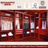 Festes Holz-Luxuxschlafzimmer zusammengebaute Garderobe (GSP9-014)
