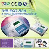Thr-ECG-32A draagbaar Digitaal 3-kanaal Interpretive ECG