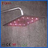 Caldo vendere la pioggia ambientale quadrata ultra sottile inonda testa di acquazzone del soffitto di potere LED dell'acciaio inossidabile della Cina l'idro di indicatore luminoso