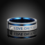2017 Jóias Colorfor2017 Duplo Simples Jóias de cor Duplo Simples anel de aço inoxidável para Mener Amor Anel de Aço Inoxidável