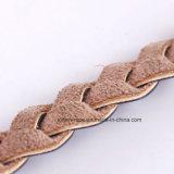 Tecelagem de fio de couro PU moda para vestir a decoração da Correia