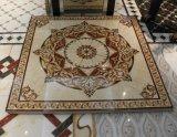 Keramischer Fußboden-goldene Teppich-Polierfliese mit Leuchtstofflicht
