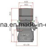 22mm 6V-380V behandelen de HoofdSchakelaar van de Drukknop
