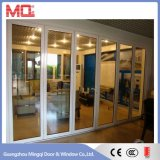 Porta de vidro dobro de alumínio de alumínio da porta de dobradura do frame