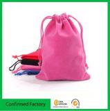 Vente en gros personnalisée de sac de cadeau de cordon de velours de bijou (directement de l'usine)