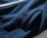 Ман моды в полной мере молнии флис удлиненной худи (SW--320)