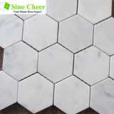 Mosaico de mármol blanco de mármol de Carrara