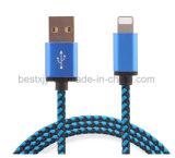 Buntes gesponnenes Nylon-USB-Daten-Kabel mit Blitz-Mikrokanal für alle Apple-Telefon iPad iPod Einheiten