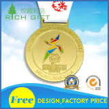 A medalha barata por atacado feita sob encomenda do esporte da concessão da lembrança com ouro chapeou