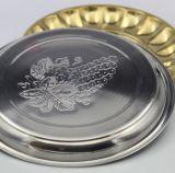 Bandeja redonda del acero inoxidable de los utensilios de cocina los 28cm