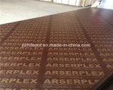 La película de color marrón impermeable frente/encofrados de madera contrachapada de contrachapado de madera contrachapada/construcción