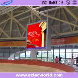 Tablilla de anuncios fija a todo color de interior de LED con el montaje sobresalido por en gimnasia (P3, P4, P5, P6)