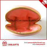 Pink Cute Small Shell Cosmetic Bag com PU Lather para mulheres