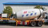 Acoplado del mezclador concreto de los árboles 12cbm -18cbm de Sinotruk 3 semi