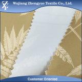 백색 PVC에 의하여 입히는 인쇄된 폴리에스테 호박단 차일 직물