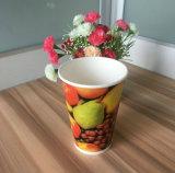 Copas de papel impresas de bebida fría