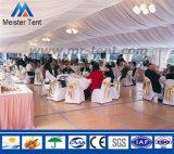 Grande tente de mariage de revêtement en PVC De blanc avec l'entrée de tente de pagoda de 5X5m