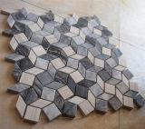 Azulejo de mármol mezclado de la pared de piedra del mosaico del material de construcción