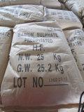 El sulfato de bario precipitó el 98% para utilizado en industria del caucho y de pintura