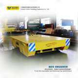 Установка на направляющей с электроприводом плоские транспортной тележки на контактах