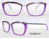 Nova estrutura óptica de acetato de boa qualidade para a senhora com Metal (Ce) óculos normais