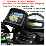 """IP65 водонепроницаемый мотоцикл Bike автомобильной навигации GPS с помощью гарнитуры Bluetooth, FM-передатчик, 3,5""""Экран TFT для спортивных мероприятий на улице действий GPS навигатор"""