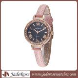 숙녀 시계 방수 석영 Ultra-Thin 계약된 합금 가죽끈 손목 시계