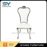 Cadeira moderna de jantar de aço inoxidável com almofada de tecido