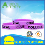 Wristband de goma personalizado de la etiqueta del USB del silicón del reloj para el acontecimiento con las ilustraciones libres