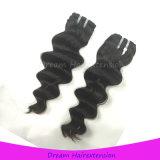 8A Wholesale billig lose tiefe Wellen-peruanisches Jungfrau-Haar