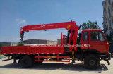 Dongfeng LHD 6 바퀴 트럭은 판매를 위한 5개 T 붐 기중기로 거치했다
