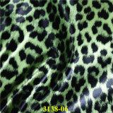 couro sintético do plutônio da grão do leopardo da forma para a fabricação dos calçados