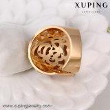 Das 14134 Form-Luxuxgold Höhlte-heraus CZ-geöffneten Ring aus
